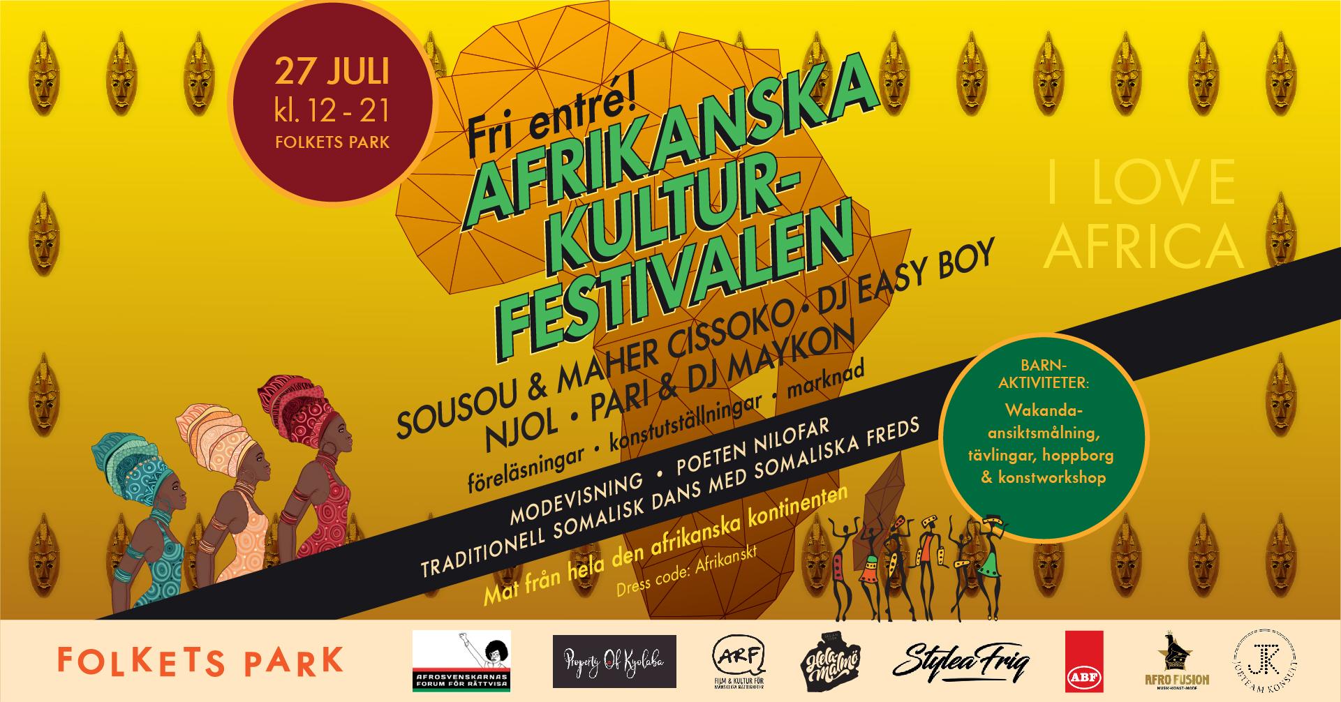 Informationsbild till Afrikanska kulturfestivalen i Folkets Park.