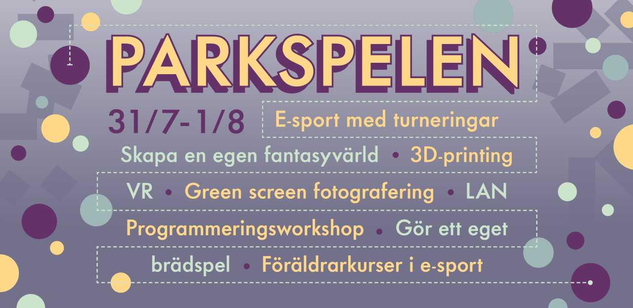 Informationsbild om parkspelen i Folkets Park