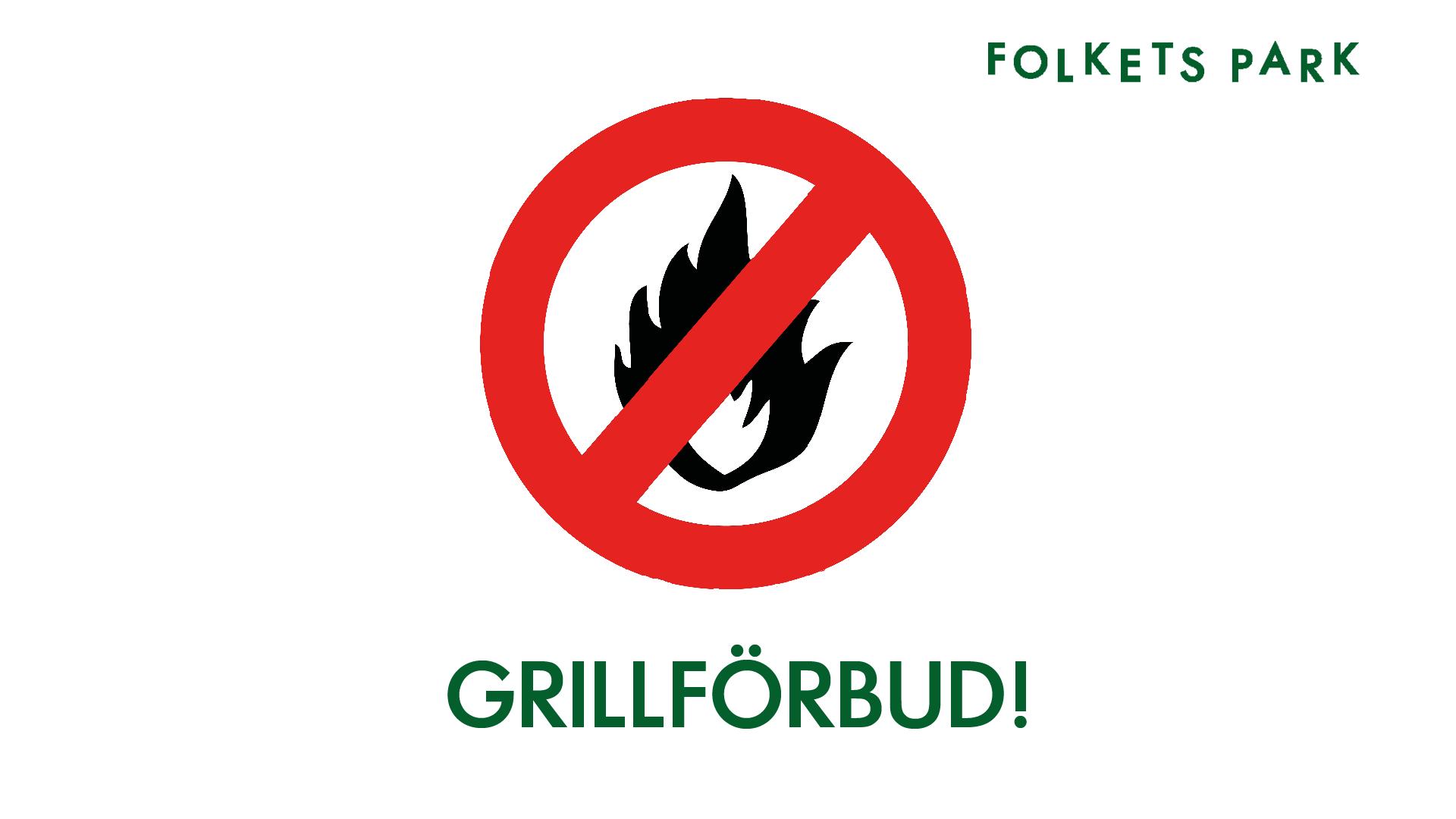 Eldningsförbud i Folkets Park