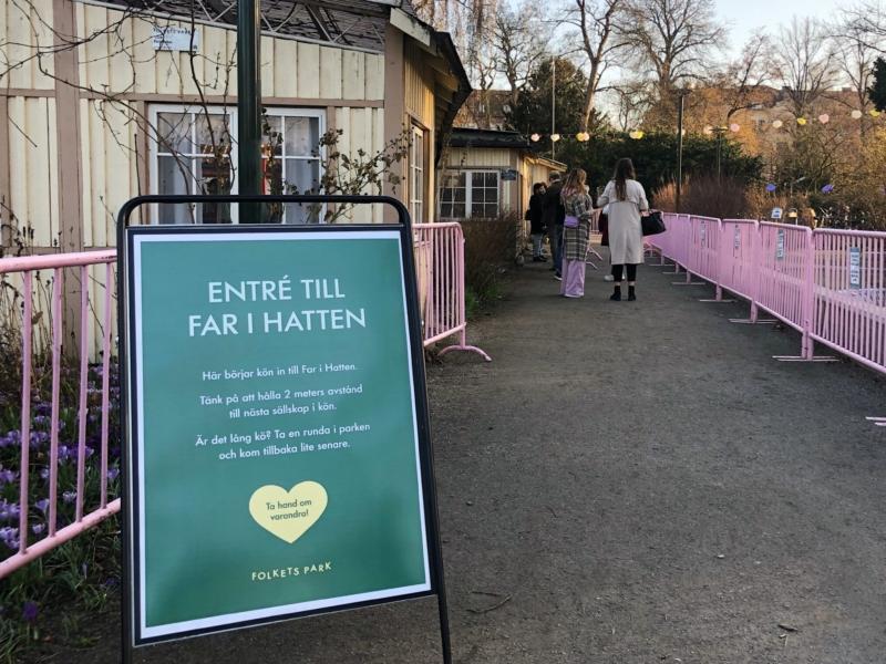 Kösystem in till restaurangen Far i Hatten