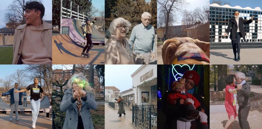 Sammansatta stillbilder från projektet Video Walks
